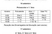 RECEÇÃO AOS PAIS/ENCARREGADOS DE EDUCAÇÃO 1.º Ciclo