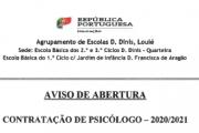 Contratação de Psicólogo - 2020-2021